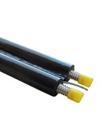 Teava inox panouri solare dubla izolata 1m D-25mm